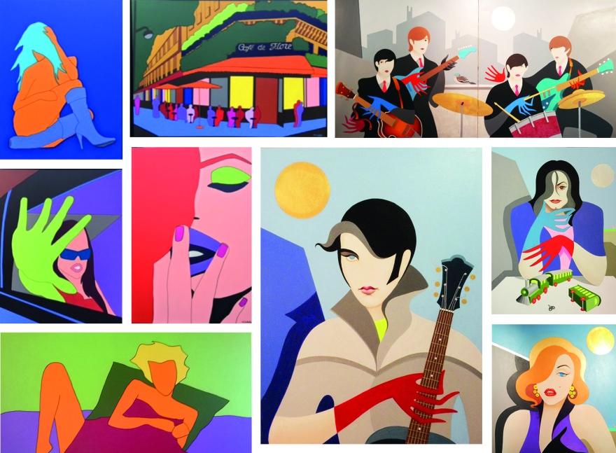Montage peintures galerie Tanguy
